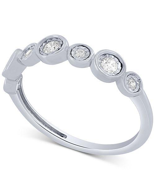 Macy's Diamond Fashion Band (1/5 ct. t.w.) in 10k White Gold