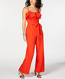 Thalia Sodi Ruffled Lace Jumpsuit, Created for Macy's