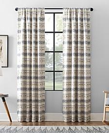 Ikat Stripe Cotton Blend Blackout Curtain Collection