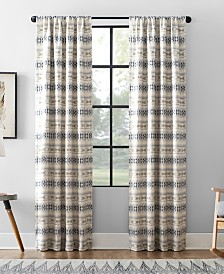 Archaeo Ikat Stripe Cotton Blend Blackout Curtain Collection