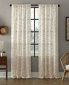 Archaeo Jigsaw Embroidery Linen Blend Curtain Collection