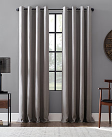 "Archaeo Linen Blend Blackout Grommet Top Curtain, 52"" W x 95"" L"