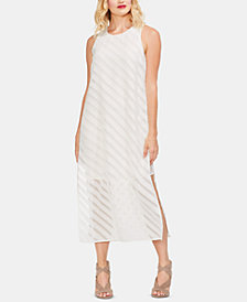 Vince Camuto Diagonal Striped Sleeveless Dress