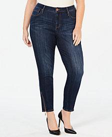 Seven7 Jeans Plus Size Zipper-Trim Skinny Jeans