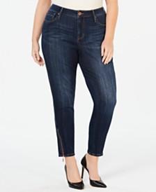 768d9ffb65065 Seven7 Jeans Plus Size Zipper-Trim Skinny Jeans
