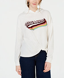 Rebellious One Juniors' Bittersweet Twist-Front Sweatshirt