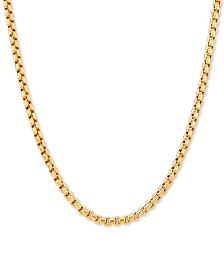 "Box Link 22"" Chain Necklace in 14k Gold"