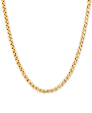 """Box Link 22"""" Chain Necklace in 14k Gold"""