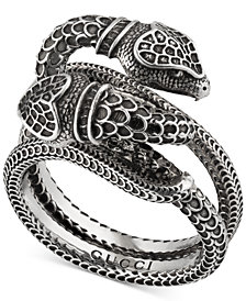Gucci Men's Snake Ring in Sterling Silver