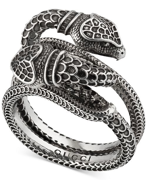 603b79c27 Gucci Men's Snake Ring in Sterling Silver & Reviews - Watches ...