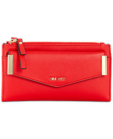 Nine West Small Double Zip Wallet With Pouch