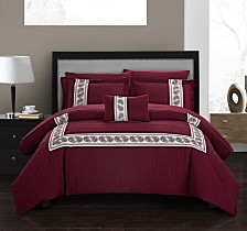 Chic Home Titian 8 Piece Queen Bed In a Bag Comforter Set