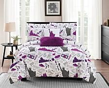 Liberty 9 Piece Queen Bed In a Bag Comforter Set