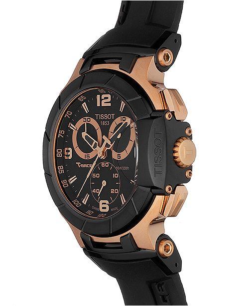 024b416bbfad ... Tissot Men s Swiss Chronograph T-Race Black Rubber Strap Watch  50.26mmX45.3mm T0484172705706 ...