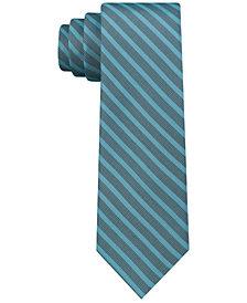 Calvin Klein Men's Tech Skinny Tonal Stripe Silk Tie