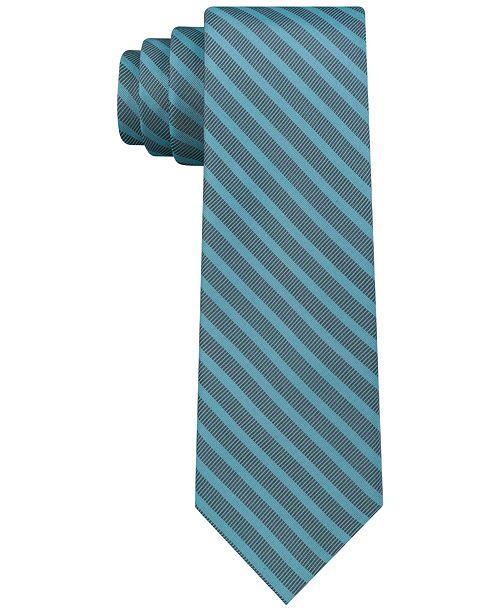 a23d05adf561 Calvin Klein Men's Tech Skinny Tonal Stripe Silk Tie & Reviews ...