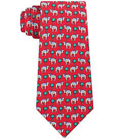 Tommy Hilfiger Men's Classic Santa Camel Silk Tie