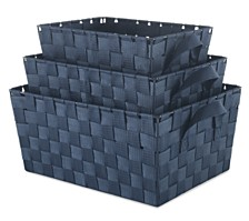 Whitmor Set of 3 Woven Strap Storage Baskets