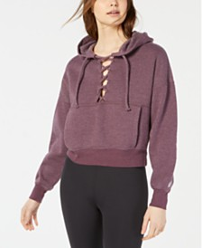 Free People Movement Believe It Lace-Up Hoodie