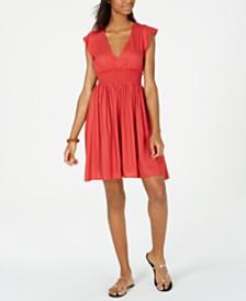 Roxy Juniors' Gracefully Angelic Smocked Dress