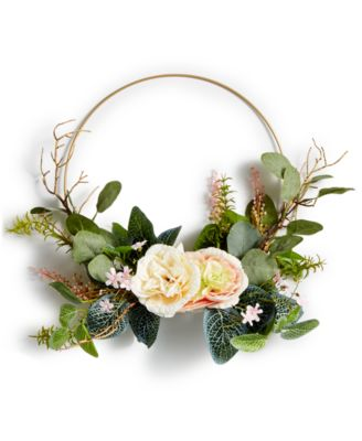Spring Asymmetrical Artificial Ring Wreath, Created for Macy's