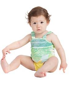 Masala Baby Baby Girl's Smocked Tankini Lily Pond