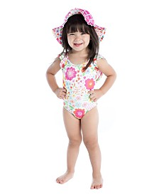 Masala Baby Baby Girl Flutter One Piece English Garden