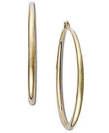 "I.N.C. Extra Large 2.5"" Gold-Tone Hoop Earrings"