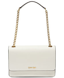 Calvin Klein Hayden Leather Shoulder Bag