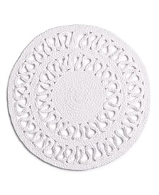 """Bardwil Sydney 15"""" Round Placemat, White"""