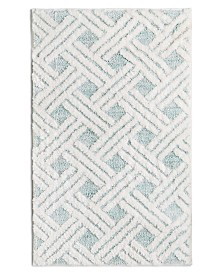 "Martha Stewart Collection High Low Lattice 20"" x 30"" Bath Rug, Created for Macy's"