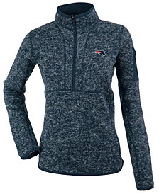Antigua Women's New England Patriots Fortune Half-Zip Pullover
