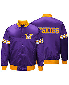 G-III Sports Men's Washington Huskies Draft Pick Varsity Satin Jacket