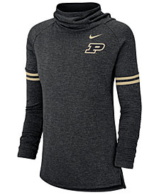 Nike Women's Purdue Boilermakers Logo Funnel Neck Long Sleeve T-Shirt