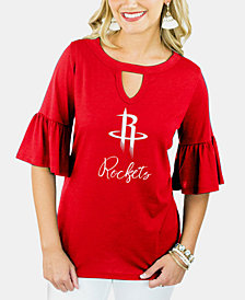 Gameday Couture Women's Houston Rockets Ruffle T-Shirt