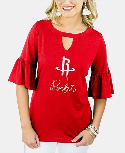 Gameday Couture Women's Houston Rockets Ruffle T-Shirt