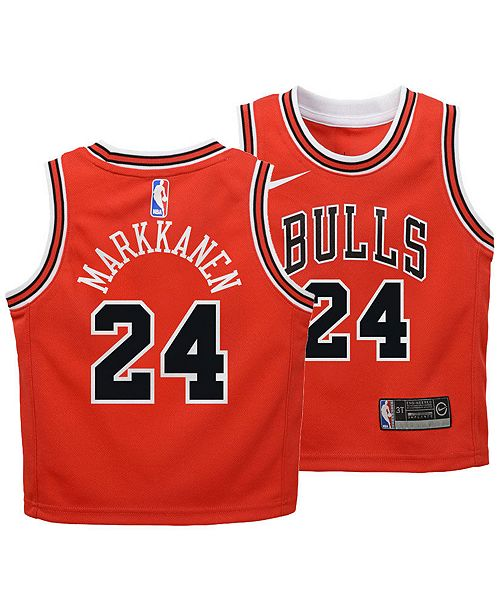 separation shoes ef0b3 16002 Nike Lauri Markkanen Chicago Bulls Icon Replica Jersey ...