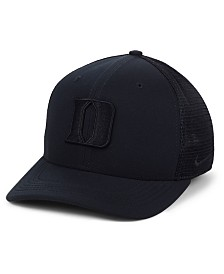 Nike Duke Blue Devils Aerobill Black Swoosh Cap