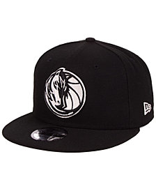 New Era Dallas Mavericks Black White 9FIFTY Snapback Cap