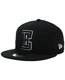 Los Angeles Clippers Black White 9FIFTY Snapback Cap
