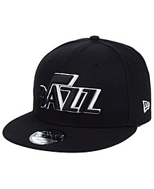 New Era Utah Jazz Black White 9FIFTY Snapback Cap