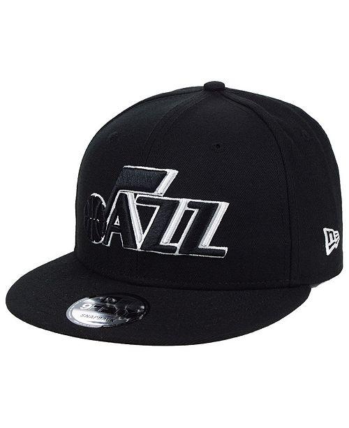 New Era Utah Jazz Black White 9FIFTY Snapback Cap