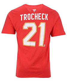 Majestic Men's Vincent Trocheck Florida Panthers Authentic Stack Name & Number T-Shirt