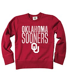 Oklahoma Sooners Crew Neck Sweatshirt, Toddler Boys (2T-4T)