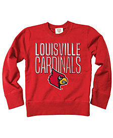 Wes & Willy Louisville Cardinals Crewneck Sweatshirt, Big Boys (8-20)