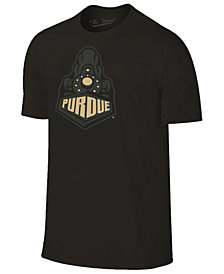 Champion Men's Purdue Boilermakers Black Out Dual Blend T-Shirt