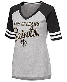 G-III Sports Women's New Orleans Saints Goal Line Raglan T-Shirt