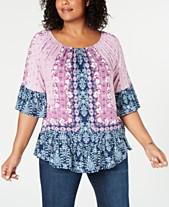 Plus Size Dressy Tops  Shop Plus Size Dressy Tops - Macy s d4d1efdef