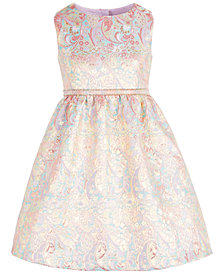 Bonnie Jean Toddler Girls Metallic Brocade Dress