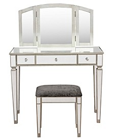 Adeline Vanity Set with Bench and Mirror